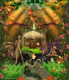 Fairy Forest ❤ - made by BabySavira Mababe with Bazaart #collage