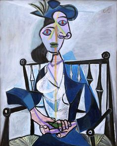 art-centric:  Pablo Picasso. 1881-1973 Seated Woman