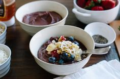 Skip the smoothie and mix it up with an acai bowl.