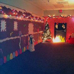 Our hallway at school decorated for genre night. Our genre is traditional literature, and our theme is gingerbread man.
