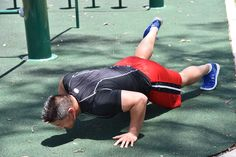 Push Up with Foot Elevated. Step One: Keep your back straight and in a neutral position, engage your core,elevate one foot and lower your body to the ground.