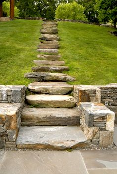 Stone steps up hill
