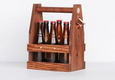 This wooden six pack carrier makes a great holiday gift.