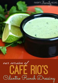 Cafe Rio Cilantro Ranch Dressing