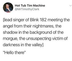 For everything Blink 182 check out Iomoio Emo Band Memes, Emo Bands, Music Bands, Blink 182, Jack Und Sally, Land Of The Lost, Tom Delonge, Spooky Memes, Haha Funny