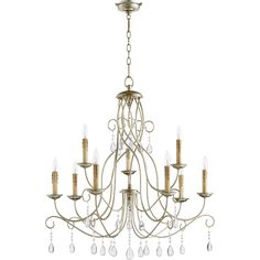Picture this Chandelier in your home or office. Refresh your room with this Aged Silver Leaf-finished Chandelier by Quorum.Aged Silver Leaf FinishDesigned in a Transitional Height x Width 9 x 60 Watt Candelabra-Base bulbs ( Candle Style Chandelier, Chandelier Ceiling Lights, Ceiling Lights, Chandelier Lighting, Ceiling Pendant Lights, Cool Floor Lamps, Transitional Chandeliers, Light, Candle Chandelier