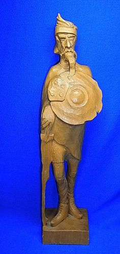 Vintage German Wood Carved Don Quijote Quichote #A