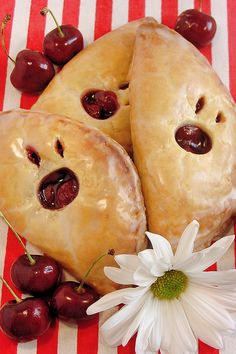 Cherry Hand Pies with Flaky Cream Cheese Pastry by WickedGoodKitchen.com