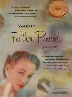 Yardley of London's Face Powder – Feather-Pressed (1951)
