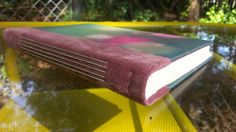 Hand made book  Multicolor light print with by BookBindingBirdy