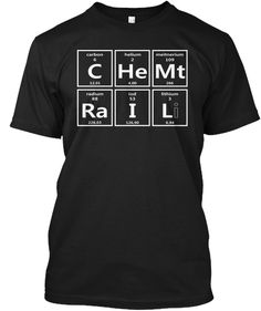 Chemtrails Elements Black T-Shirt Front Chemistry Shirts, Element T Shirt, Conspiracy, Just For You, Tees, Mens Tops, Black, T Shirts, Black People