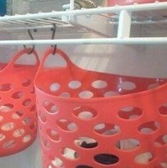 Organize your closet for less with these dollar store closet organization ideas. From organizing your bedroom closet to your cleaning closet, there are plenty of cheap organizing ideas for your home. Diy Organizer, Diy Clothes Organiser, Diy Clothes Storage, Diy Storage, Clothing Storage, Laundry Storage, Storage Hooks, Clothing Ideas, Storage Shelves