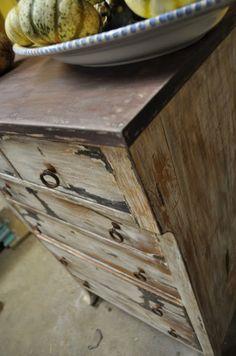 majorly distressed dresser