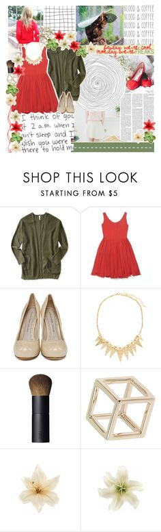 """//anything but ordinary♥"" by tropical-songwriter ❤ liked on Polyvore featuring Nicole Miller, Aéropostale, Marc by Marc Jacobs, 2b bebe, NARS Cosmetics, Topshop, Clips, red, olive and beige"