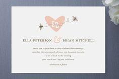 Sweet Bees Wedding Invitations by Oscar and Emma. Found via http://www.minted.com/customizer/sku/MIN-FIR-INV