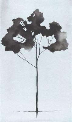 Watercolor Painting Tree. Giclee Tree Print by Krislyndillard $40: