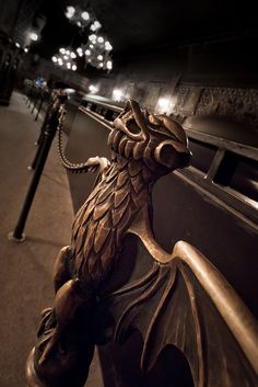 What I wouldn't pay for one of the bat stanchions from the Haunted Mansion line.