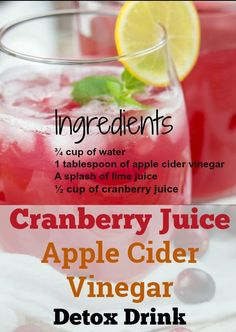 Apple Cider Vinegar for Weight Loss - 3 Detox Drink Recipes for Flat Belly How much weight can you lose by drinking apple cider vinegar? Learn now how to use apple cider vinegar for weight loss recipes at home to lose fat in 1 week Weight Loss Meals, Weight Loss Drinks, Apple Recipes For Weight Loss, Vinegar Detox Drink, Apple Cider Vinegar Detox, Apple Detox Water, Apple Cider Vinegar For Weight Loss, Smoothie Detox, Juice Smoothie