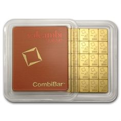 50x 1 gram Gold Valcambi CombiBar (In Assay)