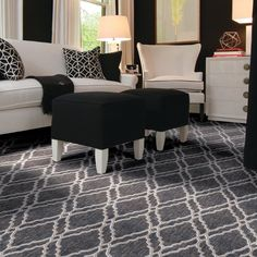 Well, hello there! This pattern is sure to catch anyone's attention. Stanton Carpet, Custom Carpet, Custom Rugs, Family Room, Area Rugs, Couch, Flooring, Interior Design, Bedroom