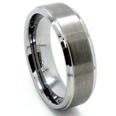 9mm Tungsten Carbide Raised Center Great Satin Ring Mens Wedding Bands - Fashion - Designer Ring (Available in Sizes 5-17) New Wedding Rings. $27.95. Solid Tungsten Carbide - Comfort Fit - Cobalt-free. Great for Men! 9mm Width. Nice Designer Mens Fashion Band. Ultra Polish on the side and inside. Tungsten Carbide with raised Brush/Satin Center