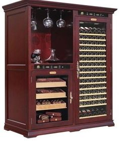 Definately A Man Cave Must Have Wine Amp Cigar Humidor