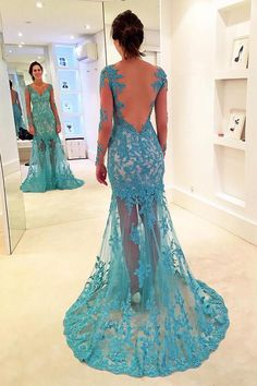 23d02c1071b6f8 Gorgeous Mermaid V-neck Prom Gown