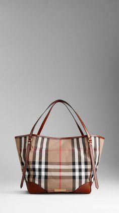 75bd18428663 Burberry - Brown Medium House Check Tote Bag - Lyst