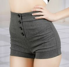 Grey Cable Knit High Waisted Shorts - LoveCulture.com   This Just ...