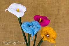 Large Calla Lily : crochet pattern on Ravelry. Gorgeous !