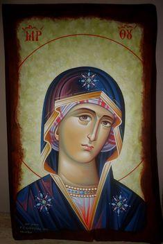 Αγιογραφίες Σκουτέλας Γεώργιος: Φορητές Εικόνες Byzantine Icons, Art Icon, Orthodox Icons, Princess Zelda, Detail, Blog, Painting, Fictional Characters, Hail Mary