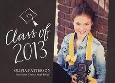 Handlettering Photo Grad Announcement Graduation Announcement