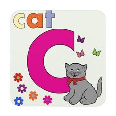 Cat Alphabet Letter C Free Stock Photo - Public Domain Pictures C Is For Cat, Letter C, Glitter Letters, Custom Coasters, Vintage Paper Dolls, Retro Toys, Art Pages, Coloring For Kids, Drink Coasters