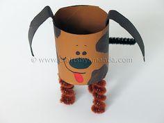 Cardboard Tube Dog: The Farm Series | Crafts by Amanda