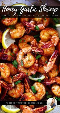 One Pan Honey Garlic Shrimp recipe, this Sticky Honey Garlic Butter Shrimp are coated in the most amazing sticky honey garlic butter soy sauce. This is a quick 20 minute meal that you will make again and again! recipes One Pan Honey Garlic Shrimp Baked Shrimp Recipes, Shrimp Recipes For Dinner, Seafood Recipes, Cooking Recipes, Healthy Recipes, Frozen Shrimp Recipes, Garlic Shrimp Pasta, Lemon Garlic Butter Shrimp, Shrimp And Broccoli