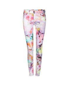 Ted Baker Print skinny jeans Bloem Electric Daydream • de Bijenkorf