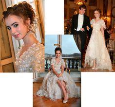 Vestido festa de 15 anos debutante Chanel Couture Lily Collins