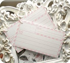 NEW  Pink Postage Air Mail Wish Tags Set by LittlePaperFarmhouse, $5.95