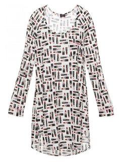 d685b1bc8e Cosabella Bella Printed Long Sleeve Sleep Dress Sleep Dress