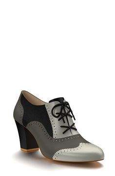 Shoes of Prey Colorblock Calf Hair Oxford Bootie (Women) available at #Nordstrom