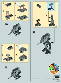 LEGO 30274 AT-DP instructions displayed page by page to help you build this amazing LEGO Star Wars set Robot Lego, Lego Moc, Lego Duplo, Star Wars Figure, Lego Star Wars Minifiguren, Instructions Lego, Cuadros Star Wars, Lego Sets, Micro Lego