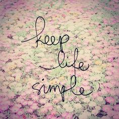 Keep life simple #kiss #simple #emmamildon