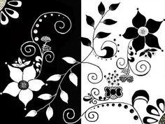 Картинки по запросу черно-белый цветок