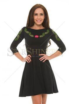 StarShinerS Brodata Bamboo Black Dress
