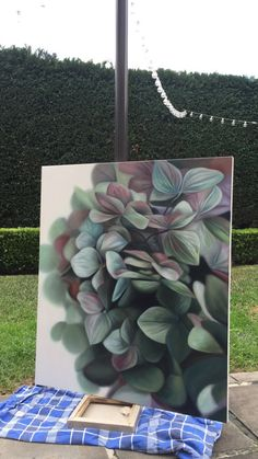 Oil Painting Basics, Oil Painting Techniques, Hydrangea Painting, Acrylic Painting Inspiration, Acrilic Paintings, Floral Drawing, Mural Wall Art, Contemporary Abstract Art, Realism Art