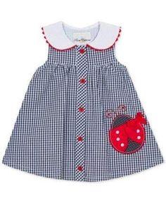 Rare Editions Baby Girls Gingham Seersucker Dress - Blue months Best Picture For baby girl dress Baby Dress Design, Baby Girl Dress Patterns, Frock Design, Frocks For Girls, Little Girl Dresses, Girls Dresses, Dresses For Toddlers, Baby Girl Dresses Diy, Baby Girl Frocks