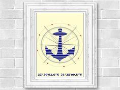 Nautical print Custom Love Coordinates by AtelierDuCiel on Etsy, $10.00