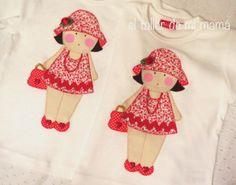 "Camisetas con diseño ""niña mayor"" bordada"