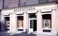 balenciaga stores images | Balenciaga store in the 1980s . Im guessing its either in Spain or ...
