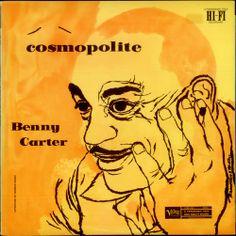 Benny Carter- Cosmopolite, Label:Verve MGN-1070 (1956) Design: David Stone Martin.